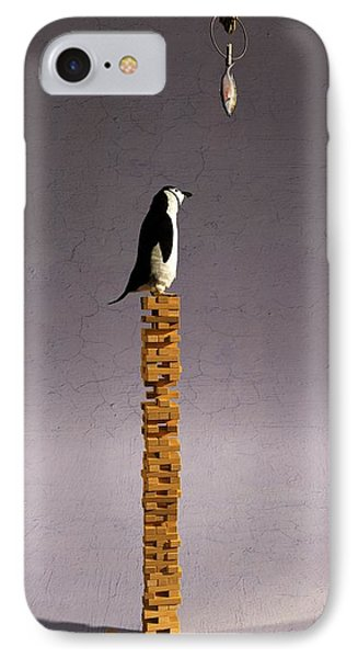 Penguin iPhone 7 Case - Equilibrium V by Cynthia Decker
