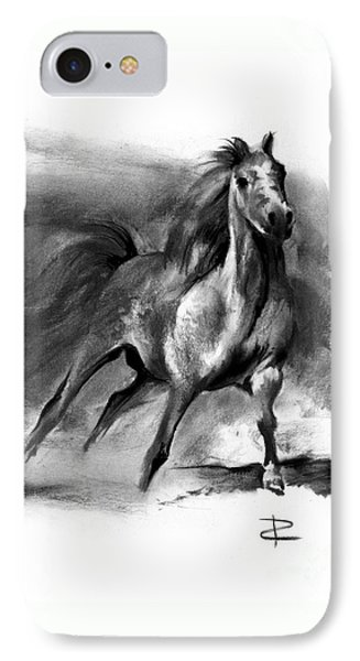 IPhone Case featuring the drawing Equine II by Paul Davenport