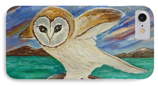Equinox Owl IPhone Case by Victoria Lakes