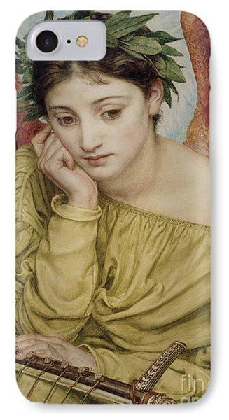 Erato Muse Of Poetry 1870 IPhone Case by Sir Edward John Poynter