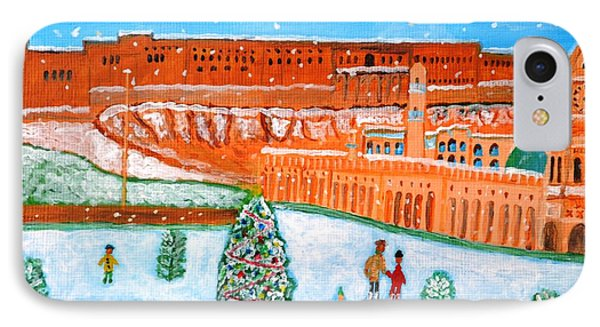 IPhone Case featuring the painting Erbil Citadel Christmas  by Magdalena Frohnsdorff