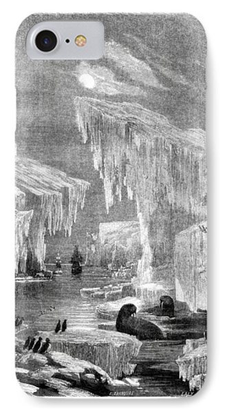 Erebus And Terror In The Ice 1866 IPhone Case