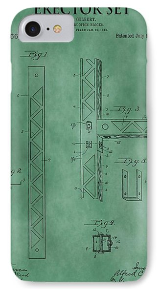 Erector Set Patent Green IPhone Case