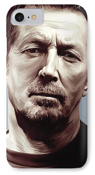 Eric Clapton Artwork IPhone Case by Sheraz A