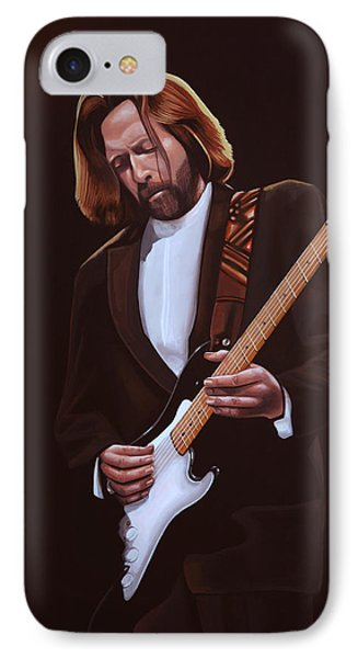 Eric Clapton Painting IPhone Case by Paul Meijering
