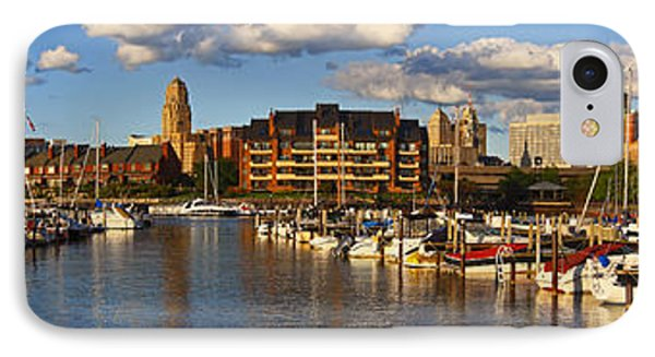 IPhone Case featuring the photograph Erie Basin Marina Panorama by Don Nieman