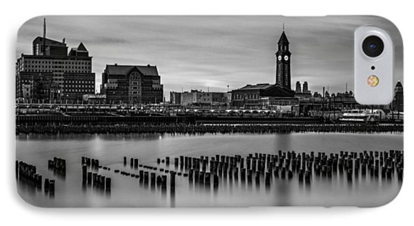 Erie Lackawanna Terminal Sunset Bw IPhone Case by Susan Candelario