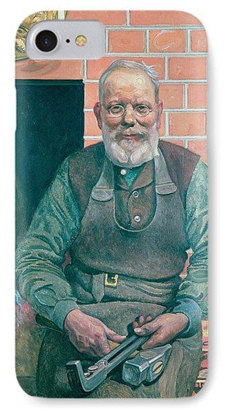 Erik Erikson The Blacksmith Phone Case by Carl Larsson