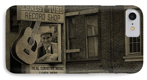 Ernest Tubb Record Shop IPhone Case by Dan Sproul