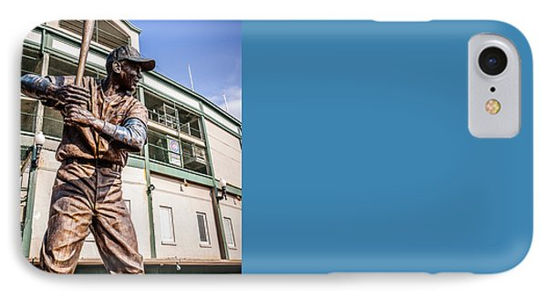 Ernie Banks Statue At Wrigley Field  IPhone 7 Case by Paul Velgos