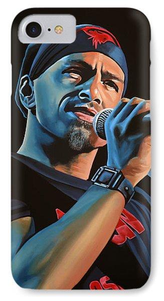 Eros Ramazzotti Painting IPhone Case by Paul Meijering