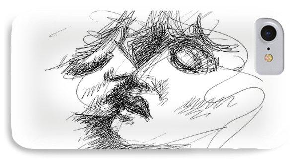 Erotic Art Drawings 15f IPhone Case by Gordon Punt