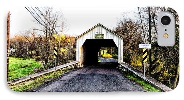 Erwinna Covered Bridge IPhone Case by Bill Cannon
