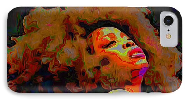 Erykah Badu IPhone Case by Fli Art