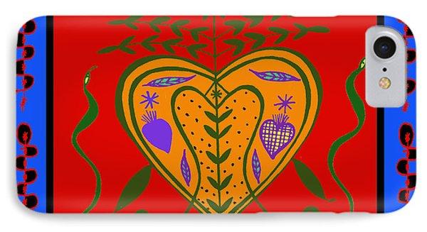 IPhone Case featuring the digital art Erzulie Freda by Vagabond Folk Art - Virginia Vivier