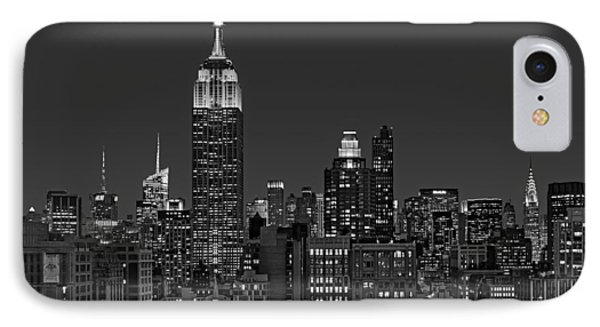 Esb Surrounded By The Flatiron District Bw IPhone Case by Susan Candelario