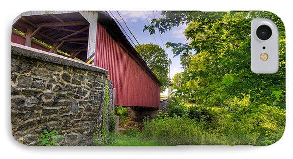 IPhone Case featuring the photograph Eshelman's Mill Covered Bridge by Jim Thompson