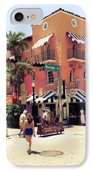 IPhone Case featuring the photograph Espanola Way by Judy Kay