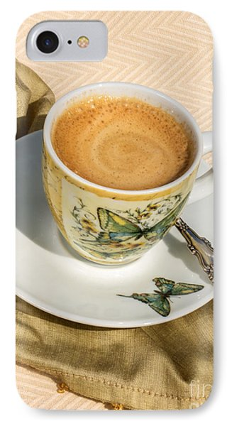 Espresso In Butterfly Cup IPhone Case
