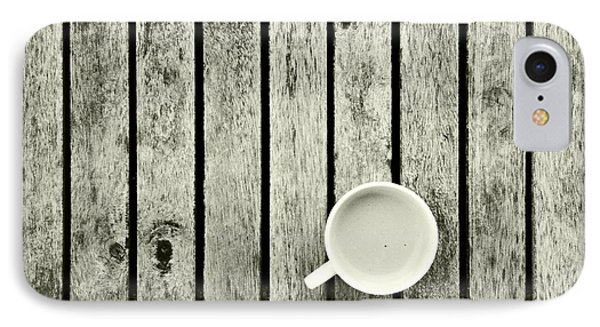 Espresso On A Wooden Table IPhone Case