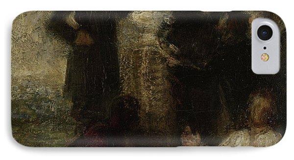 Esquisse Pour Lhommage à Delacroix, Henri Fantin-latour IPhone Case by Litz Collection