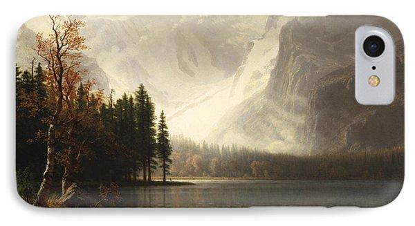 Estes Park Colorado Whytes Lake Phone Case by Albert Bierstadt