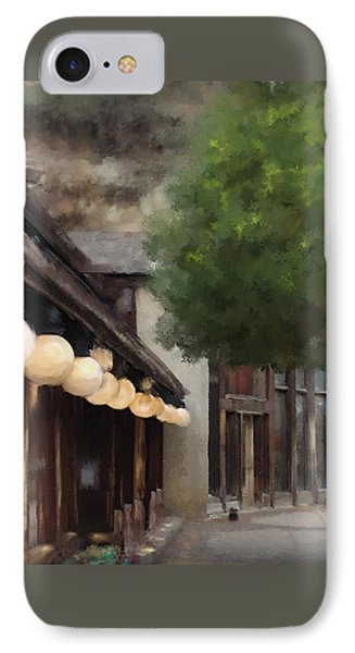 IPhone Case featuring the painting Estes Park Downtown by Patricia Lintner