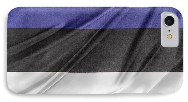 Estonian Flag IPhone Case by Les Cunliffe