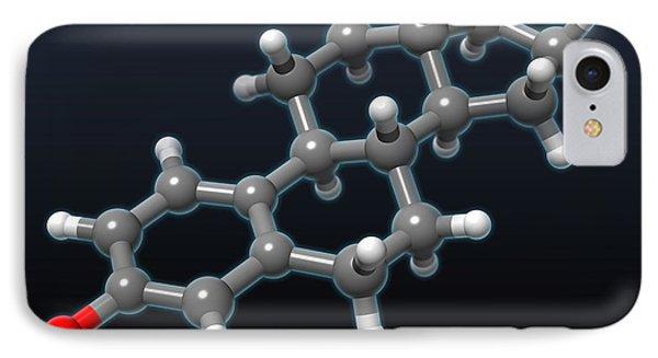 Estradiol Molecular Model Phone Case by Evan Oto