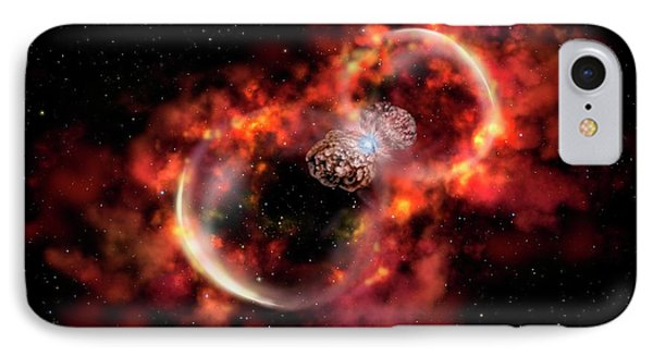 Eta Carinae Outburst IPhone Case by Gemini Observatory Artwork By Lynette Cook