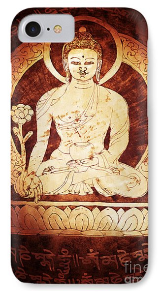 Etched Buddha  Phone Case by Tim Gainey