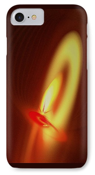 IPhone Case featuring the digital art Eternal Flame by Victoria Harrington