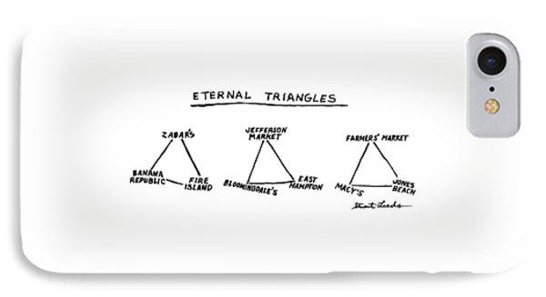 Eternal Triangles: IPhone Case by Stuart Leeds