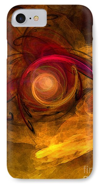 Eternity Of Being-abstract Expressionism IPhone Case by Karin Kuhlmann