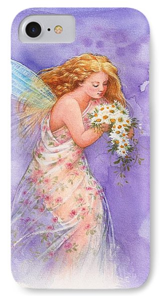 Ethereal Daisy Flower Fairy IPhone Case by Judith Cheng