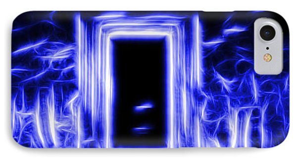 Ethereal Doorways Blue IPhone Case