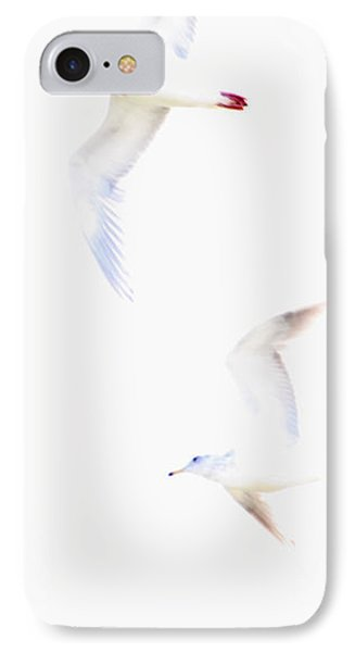 IPhone Case featuring the photograph Ethereal Gulls by Peggy Collins