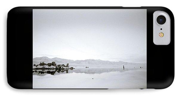 Ethereal Mono Lake IPhone Case by Shaun Higson