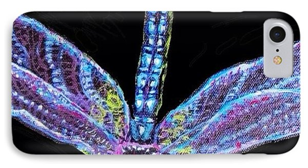 Ethereal Wings Of Blue IPhone Case by Kimberlee Baxter
