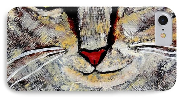 Ethical Kitty See's Your Dilemma IPhone Case by Lisa Brandel