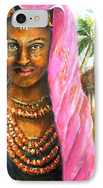 IPhone Case featuring the painting Ethiopia Bride by Bernadette Krupa