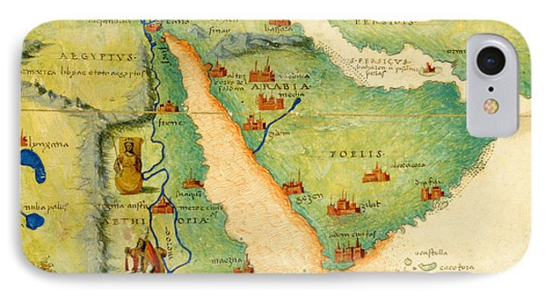 Ethiopia, The Red Sea And Saudi Arabia, From An Atlas Of The World In 33 Maps, Venice, 1st IPhone Case by Battista Agnese