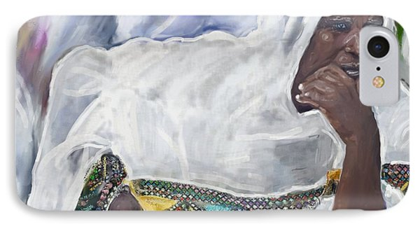 Ethiopian Orthodox Jewish Woman IPhone Case by Vannetta Ferguson