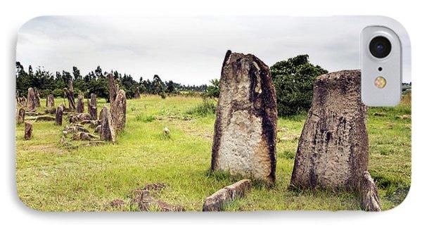 Ethiopian Stone Stelae At Tiya IPhone Case by Peter J. Raymond