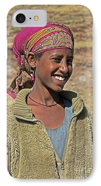 Ethiopian Woman IPhone Case by Brian Gadsby