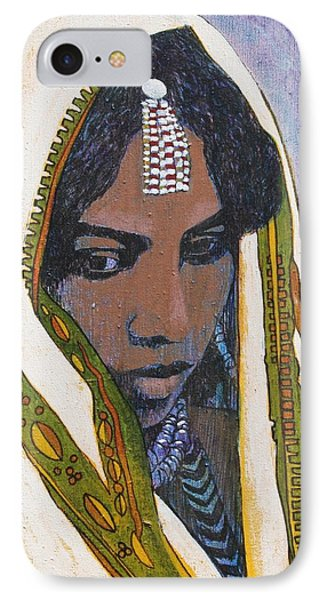 Ethiopian Woman IPhone Case by J W Kelly