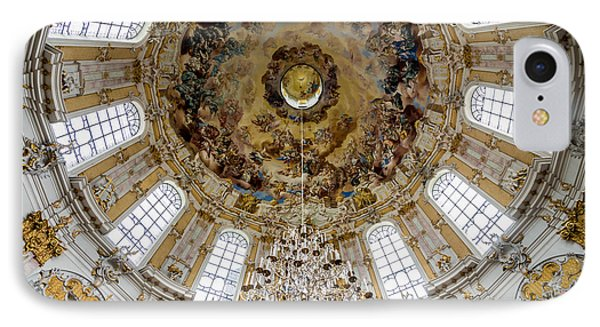 Ettal Abbey Dome - Benedictine Monastery - Germany IPhone Case by Gary Whitton