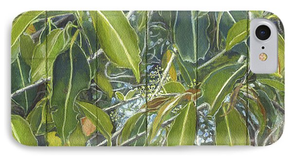 Euca - Leaves Section IPhone Case by Kerryn Madsen-Pietsch