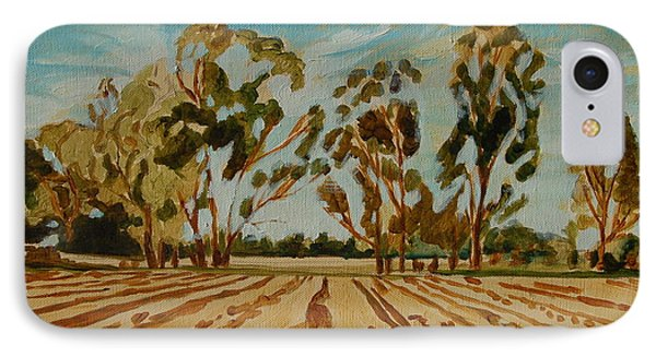 IPhone Case featuring the painting Eucalypus Trees Near Bloemfontein by Thomas Bertram POOLE