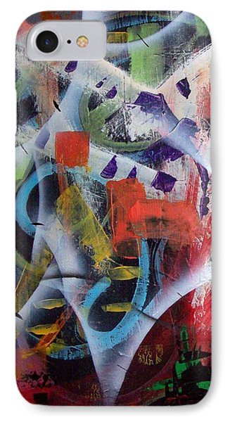 IPhone Case featuring the painting Euphoria by Yul Olaivar
